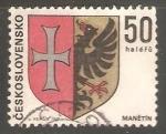 Stamps Czechoslovakia -  Escudo de armas de manětín