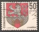 Sellos de Europa - Checoslovaquia -  Escudo de armas de Litoměřice