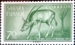 Stamps Spain -  Intercambio cr2f 0,25 usd 70 cents. 1955