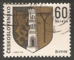 Sellos de Europa - Checoslovaquia -  Escudo de armas de Žlutice