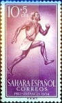 Sellos de Europa - España -  Intercambio 0,25 usd 10 + 5 cents. 1954