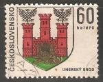 Stamps Czechoslovakia -  Escudo de armas de Uherský Brod