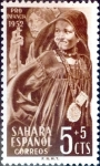 Stamps Spain -  Intercambio 0,20 usd 5 + 5 cents. 1952