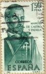Sellos de Europa - España -  Manuel de Castro y Padilla - Forjadores de America