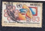 Stamps Mexico -  Año Mundial de las Comunicaciones