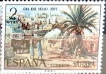 Stamps Spain -  Intercambio 0,25 usd 2 ptas. 1973