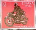 Stamps Spain -  Intercambio agm2 0,75 usd 10 ptas. 1971
