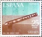 Sellos de Europa - España -  Intercambio 1,00 usd 25 ptas. 1969