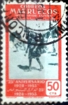 Stamps : Europe : Spain :  Intercambio 0,20 usd 50 cents. 1953