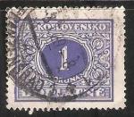 Sellos de Europa - Checoslovaquia -  Numero 1