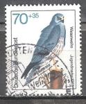 de Europa - Alemania -  Marca juvenil en 1973, las aves de rapi�a.aguilucho cenizo.
