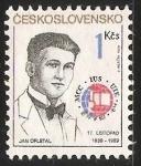 Sellos de Europa - Checoslovaquia -  Jan Opletal