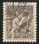 Sellos de Europa - Checoslovaquia -  Minero