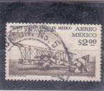 Sellos de America - México -  Primer correo aéreo en México