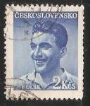 Stamps Czechoslovakia -  Julius Fučík