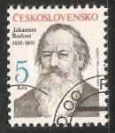 Stamps Czechoslovakia -  Johannes Brahms