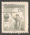 Sellos de Europa - Checoslovaquia -  Trabajador de la construcción