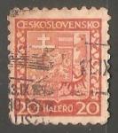 Sellos de Europa - Checoslovaquia -  Escudo de armas