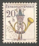 Stamps Czechoslovakia -  Emblemas postales Cuerno