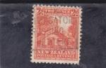 Sellos de Oceania - Nueva Zelanda -  casa típica