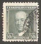 Stamps Czechoslovakia -  Dr. Edvard Beneš (1884-1948)