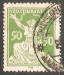 Sellos de Europa - Checoslovaquia -  Alegoria de la Republica