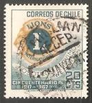 Sellos del Mundo : Europa : Chile : Emblema Lions (Club de Leones)