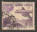 Sellos del Mundo : America : Chile : Avion y tren