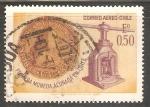 Sellos de America - Chile -  Primera moneda acuñada en Chile