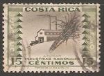 Sellos de America - Costa Rica -  Azucar - Industrias nacionales
