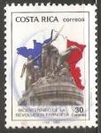 Sellos del Mundo : America : Costa_Rica : Bicentenario de la revolución Francesa