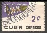 Sellos de America - Cuba -  Navidad 1960 - 61 Cafe