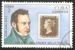 Sellos de America - Cuba -  150 aniversario del primer sello postal - Rowland Hill