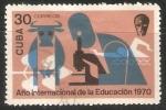 Stamps Cuba -  Año intermacional de la educacion 1970