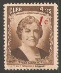 Sellos de America - Cuba -  Mª Teresa Garcia Montes