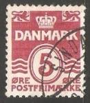 Stamps Denmark -  Olas - numero 5