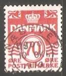 Sellos de Europa - Dinamarca -  Olas - numero 70