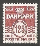 Sellos del Mundo : Europa : Dinamarca : Olas - numero 125