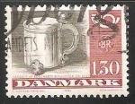 Stamps Denmark -  Corneta de correos y objetos de plata