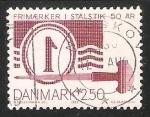 Sellos de Europa - Dinamarca -  50 aniversario del sello Danes
