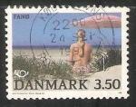 Sellos del Mundo : Europa : Dinamarca : Playa en Fano Island