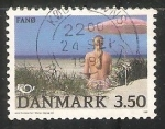 Sellos de Europa - Dinamarca -  Playa en Fano Island