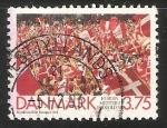 Sellos de Europa - Dinamarca -  Victoria de football