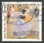 Stamps Germany -  Johann Strauss