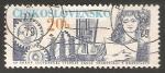 Sellos de Europa - Checoslovaquia -  Cog Wheels, Transformer and student