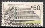 Stamps Czechoslovakia -  Arquitectura moderna Praga 1988