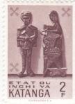 Stamps Democratic Republic of the Congo -  artesanía indígena