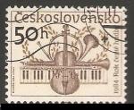 Stamps Czechoslovakia -  Instrumentos musicales