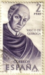 Stamps Spain -  Vasco de Quiroga - FORJADORES DE AMERICA - Mexico