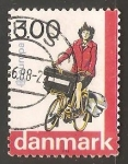 Stamps Denmark -  Bicicleta